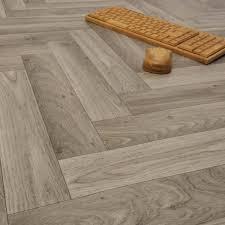 Sale Ecostep Herringbone Grey 906 Cushioned Vinyl Flooring