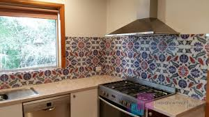 Retro Pattern Printed On Glass Melbourne City Photo Splashback
