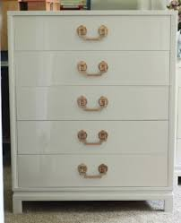 Drexel Heritage Dresser Handles by Landstrom Dresser And Tallboy In High Gloss White The