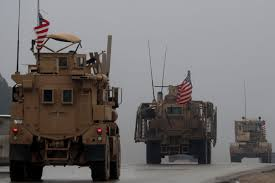 100 Russian Military Trucks Military Police Patrol Around Syrias Manbij After US