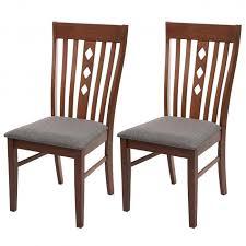 2x esszimmerstuhl hwc g62 küchenstuhl lehnstuhl stuhl stoff textil massiv holz landhaus dunkles gestell grau