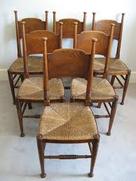 100 Birch Dining Chairs Set Of Six Arts And Crafts Dining Chairs By William Sold