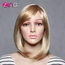 Aliexpress Buy Short Synthetic Blonde Wigs Cute Short