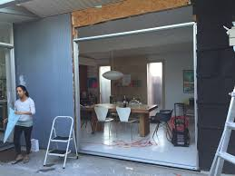 Atrium Sliding Door To Dining Room Mid Century Modern Interior Designer