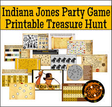 Halloween Scavenger Hunt Riddles by Printable Indiana Jones Treasure Hunt Party Game