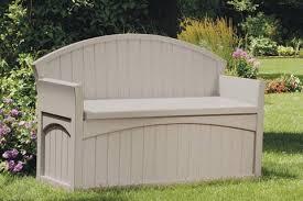 Suncast Resin Deck Box 50 Gallon by Suncast 50 Gallon Patio Bench Walmart Com