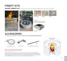 Belgard StackStone Fire Pit Kit Belgard Weston Fire Pit Dimensions