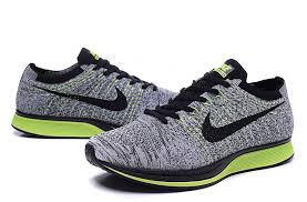 Nike Flyknit Racer Men Shoes Gray Fluorescent Greennew Air Maxlatest Fashion