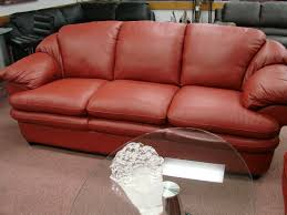 Red Leather Couch Living Room Ideas by Italsofa Red Leather Sofa Best Home Furniture Design
