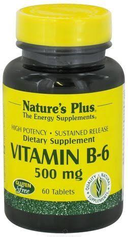 Nature's Plus Vitamin B 6 500 mg 60 Tablets