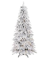 6ft Pre Lit Christmas Trees Black by Snowy Spruce Flocked Artificial Christmas Tree Treetopia