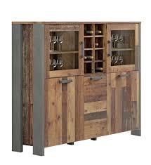 highboard vitrine clif 5 trg optik wood vintage forte