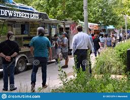 100 Dallas Food Trucks Klyde Warren Park Editorial Stock Image Image