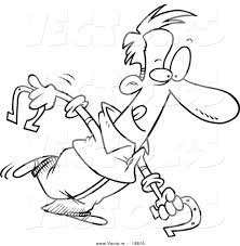 Vector Of A Cartoon Man Playing Horseshoes