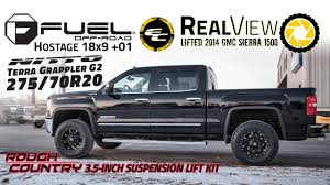 100 70 Gmc Truck RealView Lifted 2014 GMC Sierra 1500 W 18x9 Fuel Offroad Hostages