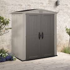 4x6 Wood Storage Shed by Decorating 8 X 6 Keter Shed With Small Window And Wooden Siding