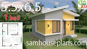 100 One Bedroom Design Small House Design Plans 55x65 With Shed Roof Sam House Plans