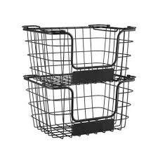 superfy aufbewahrungskorb aufbewahrungskorb aus metall allzweckkorb für küche oder badezimmer stapelbar 2 er set