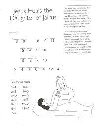 Coloring Page Jesus Heals The Paralyzed Man Printable Image Pertaining To Jairus Daughter