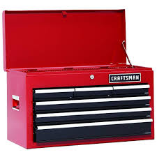 Craftsman 6 Drawer Heavy Duty Top Tool Chest, All Steel Construction ... The Images Collection Of Tool Storage Box For Pc Organizer Set Craftsman Fullsize Alinum Single Lid Truck Box Shop Your Way 1232252 Black Full Size Crossover 271210 17inch Hand Sears Outlet 26 6drawer Heavyduty Top Chest Whats In My 3 Drawer Toolbox Youtube Boxes At Lowescom Quick Craftsman Tool Restoration Plastic With Drawers Husky Drawer Removal Mobile