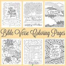 Bible Verse Coloring Pages Free Printables