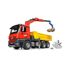 Bruder Mb Arocs Construction Truck With Crane & 2 Pallets | Cars ...