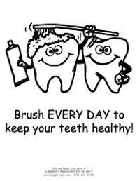 Dental Health Coloring Sheets
