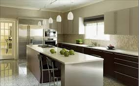 modern kitchen with frosted glass pendant lights wood drawer