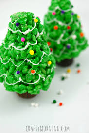 Rice Krispie Christmas Tree Pops by Fun Christmas Rice Krispie Treats To Make Crafty Morning