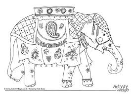 Coloring Page India Draw 30 For Your Pages Of Animals With Indian Art