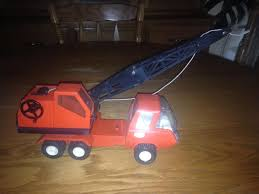 100 Tonka Crane Truck Find More Vintage Orange Red Metal Pressed Steel