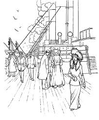 Titanic The Royal Passangers On Coloring Pages