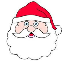 Learn How To Draw A Santa Head In This Simple Cartoon Drawing Lesson Use The Idea Here Create Unique Christmas Decoration Of Your Very Own