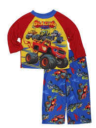 Blaze And The Monster Machines Toddler Boys Top With Flannel Pants ...