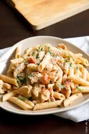 recette pate au creme fraiche pâtes cremeuse tomates poulet et parmesan