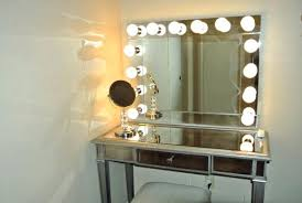 mirror with light bulbs around it ikea glossy white makeup mirror