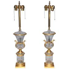 Marbro Lamp Company Los Angeles by A Pair Of Italian Urn Form Carrera Marble Lamps For Marbro Lamp
