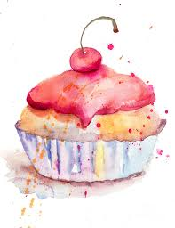Background Painting Watercolor Illustration Cake by Regina Jershova