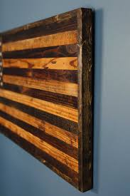 This Rustic American Flag Is Handmade Using 80 Year Old Reclaimed Barnwood A Serious Piece Of Art That Will