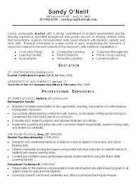 Sample Of Resume Title Example Science Teacher Examples View Page Two This