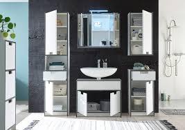 newport badezimmer hochschrank weiß anthrazit
