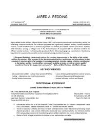 Military To Civilian Resume Resumes Professional Experience Examples