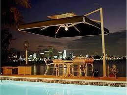 rectangular patio umbrellas with solar lights home outdoor