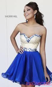 short beaded sherri hill homecoming dress promgirl