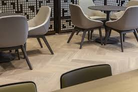 CBRE Office London Herringbone Wood Flooring