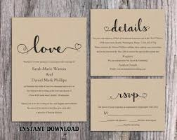 DIY Burlap Wedding Invitation Template Set Editable Word File Download Printable Rustic Heart Elegant Invite 2563522