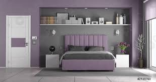foto auf lager lila und grau masterschlafzimmer