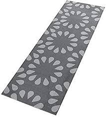 bavaria home style collection küchenläufer küchenmatte für küche und bar teppich läufer waschbar grau blumenmuster größe ca 50 x 150 cm