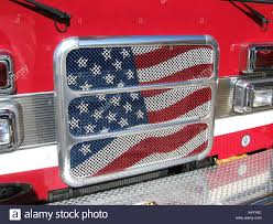 100 Truck Flag American Flag Painted On Front Grill Of A Truck Stock Photo 3641243