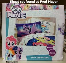 equestria daily mlp stuff pony movie bedding spotted at fred meyer